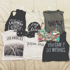 blouse tank top shirt los angeles t-shirt black and white black cute fashion crop tops style vintage tank top hipster stay classy stay weird you can't sit with us california the california top on the left black california top shirt