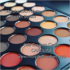 Yasss  35O MORPHE PALETTE BACK IN STOCK!!  use coupon code: CAROLINE on http://ift.tt/JGfpkI to save $$  One of my favorite palettes!! #carolinebeautyinc #morphe #morphegirl #morphebrushes #350 #35O #palette #mua #makeup #makeupartist #eyeshadow #discount #coupon #vegas_nay #beauty by carolinebeautyinc