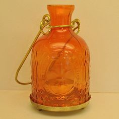 Beautiful, lead free orange color glass lanterns!