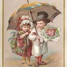 """Picture of Victorian Christmas card from my article """"Victorian Ephemera for Scrapbooking and More.""""  Just click on the pic to be taken there."""