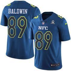 Men's Nike Seattle Seahawks #89 Doug Baldwin Limited Blue 2017 Pro Bowl NFL Jersey