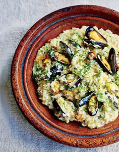 Mussel and leek risotto recipe