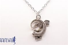 Antique Silver Tone Curled Gecko Necklace Antique Silver Tone Curled Gecko,Jewelry & Watches, All Fashion Jewelry,Value,Sale