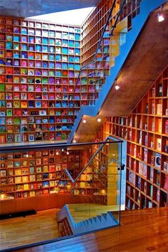 Picture Book Museum's Architecture The Picture Book Library, also known as Picture Book Museum, located in Iwaki city, Fukushima Prefecture, Japan. This renowned architecture masterpiece was designed by architect Tadao Ando. Ando designed this. Fukushima, The Places Youll Go, Places To Go, Beautiful Library, Home Libraries, Children's Picture Books, Book Nooks, Reading Nooks, Library Books