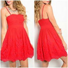 Red Lipstick Dress - The Gypsy Den