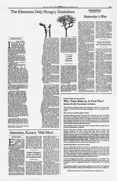 MoMA New York has acquired eight of The New York Times Op-Ed pages designed and art directed by Mirko Ilic for their collection created from 1992 to Web Design, Page Design, Book Design, Layout Design, Typography Layout, Graphic Design Typography, Graphic Design Illustration, Print Magazine, Magazine Design