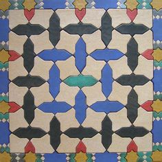 Spanish tiles from Andalucia I really like this pattern and color combination alot. This may be my favorite!