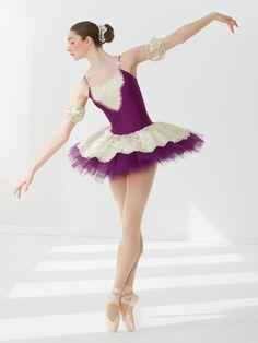 紫のクラシックチュチュがかわいいバレリーナ衣装|美女と美魔女の画像St