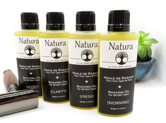 Shaving oil for Men and Women - Natura - Pre-shave Oil for all Skin Types, All Natural Shaving Oil Beard Gifts, Oils For Men, Pre Shave, Shaving Oil, Handmade Gift Tags, Flower Oil, Melaleuca, Vegan Friendly, Travel Size Products