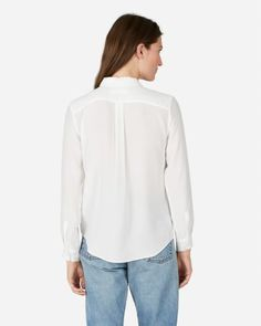 9982916972d The Slim Silk Shirt - Everlane Silk Top