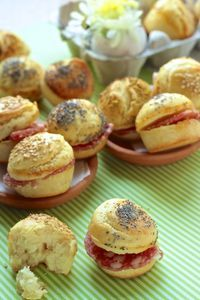 Muffin panini per Finger Food Appetizers, Finger Foods, Appetizer Recipes, Antipasto, Cooking Time, Cooking Recipes, My Favorite Food, Favorite Recipes, Salty Foods