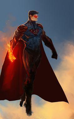 "daily-superheroes: ""Superman Redesign by Aaron Nakahara http://daily-superheroes.tumblr.com """