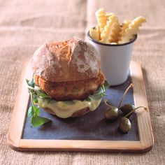 Salmon fishcake burgers with wasabi and lime mayonnaise This Asian twist on the classic salmon fishcake packs a delicious punch. They're ide...