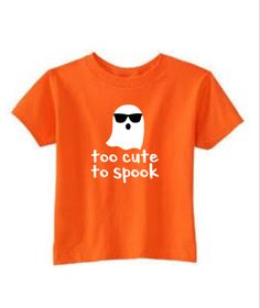Too Cute To Spook Boys Shirt, Happy Halloween Ghost