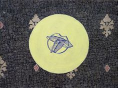 Magda Jarzabek, Aus der Serie HOMMAGE (Hommage 1-20), 2015, Mischtechnik auf Tapetenmuster, 33 x 44 cm