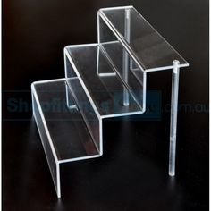 Acrylic Stairs & Acrylic Book Phone Plate Display Stand Clear Perspex Small Medium ...