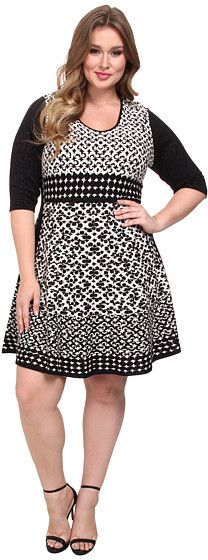 NIC+ZOE Plus Size Half Moon Twirl Dress