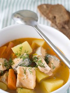 Some types of fish soup are thick and creamy and others are more like a consommé, featuring a clear liquid. You can see from this picture th...