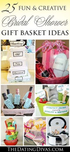 Fun and Creative Bridal Shower Gift Basket Ideas More