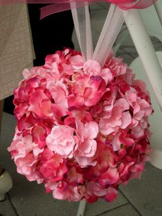 DIY Light Pink/Fuchsia Pomander :  wedding fuchsia light pink pink pomander 056