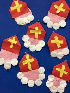 Fun Crafts For Kids, Art For Kids, Activities For Kids, Arts And Crafts, St Nicholas Day, Catholic Crafts, Crafty Kids, Plastic Canvas Crafts, Xmas Decorations
