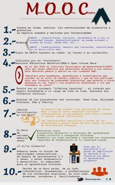 10 puntos de partida para aproximarse al universo de los MOOC #infografia #infographic #education