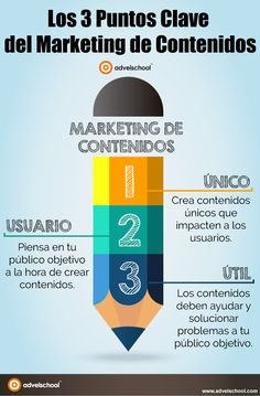 3 PUNTOS CLAVE DEL MARKETING DE CONTENIDOS #INFOGRAFIA #INFOGRAPHIC #MARKETING