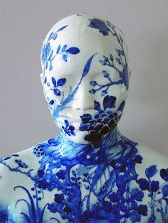 Decorative porcelain busts by Ah Xian