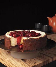 Gingersnap Cherry Cheesecake recipe