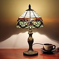 inches high-end European-style retro minimalist bedroom lamp study lamp Stained glass lamp shade handmade art lamp Tiffany, Cheap Table Lamps, Stained Glass Lamp Shades, Study Lamps, Lamps For Sale, Office Lighting, Bedroom Lamps, Desk Lamp, Lighting Design