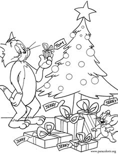 Tom and Jerry got Christmas presents! Wow, I think that Tom was not happy with it!