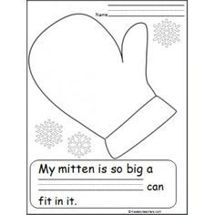 The Mitten Writing Activity for Kindergarten - Made By Teachers