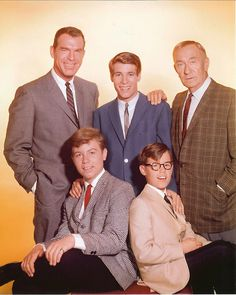 """My Three Sons - the later years (1965-1972) with William Demarest as """"Uncle Charley"""" and Barry Livingston as """"Ernie."""""""