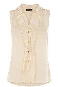 Sleeveless Frill Shirt from Oasis Stores