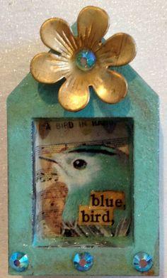 mini bluebird shrine by DianaDDarden on Etsy, $14.00