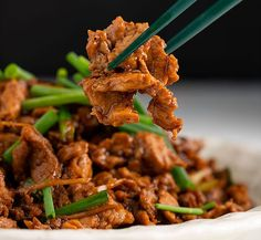Chinese Pork & Ginger Stir-fry *Marion Grasbys recipe -no tough meat Pork Recipes, Asian Recipes, Ethnic Recipes, Chinese Recipes, Oriental Recipes, Asian Foods, Recipies, Carne Asada, Kitchen Recipes