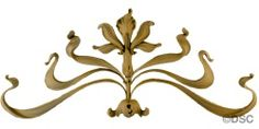 Flower - Art Nouveau  6  3/4H X 5  1/2W - 1/2Relief 9212