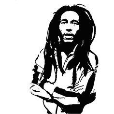 "Bob Marley Silhouette Style #2 Vinyl Wall Art Decal 23"" x 37"" $24.99"