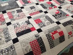 Ashley's Quilt - Made from Weeds fat eighth bundle by Me and My Sister Designs for Moda fabrics.