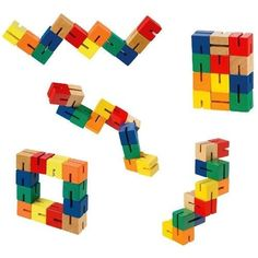 Colorful wooden puzzle autism fine motor stress anxiety fidget relief
