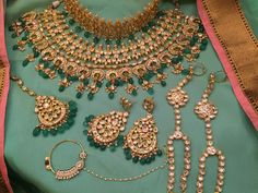 A personal favorite from my Etsy shop https://www.etsy.com/listing/546733114/indian-bridal-gold-plated-kundan-jewelry