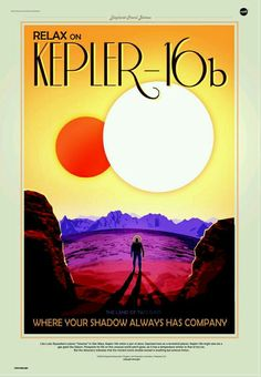 NASA Travel Poster Kepler 16B