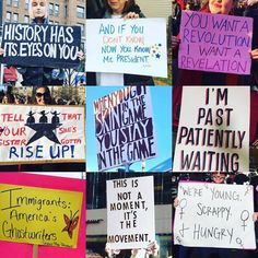 Hamilton inspired signs from The Women's March 1/21/17.