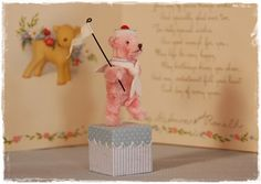 Pipe Cleaner Pink  Bear  Marine look  With Stand by maruton