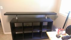 Good Free of Charge Ikea EXPEDIT / KALLAX Hack for DJs - IKEA Hackers Concepts On certainly one of my very frequent trips to IKEA I came across cheaper lacking tables that were a Ikea Kallax Hack, Ikea Kallax Series, Kallax Shelf, Ikea Furniture, Home Decor Furniture, Diy Home Decor, Ikea Hacks, 6 Cube Organizer, Dj Table