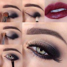 Sexy smokey eye makeup tutorial