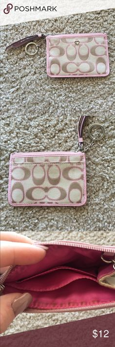 Coach Wallet/Cardholder Cute coach wallet! Matches the crossbody also available in my closet! Coach Bags Wallets