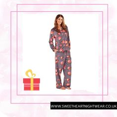Neon Rose Fleece Pyjamas