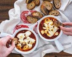 Baked Goat Cheese with Fire Roasted Tomatoes | A Couple Cooks