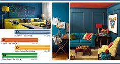 Casa vivace? Abbiamo sicuramente la tonalità che fa per te! // Colourful home? We surely have the right nuance for you!  #palette #color